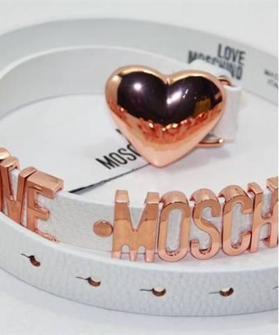 Ремень Moschino с сердцем белый