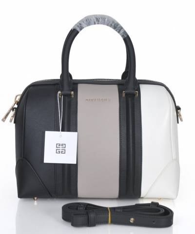 Сумка Givenchy Grey and White Lucrezia Bag