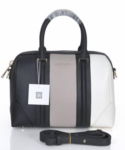 Сумка Givenchy Grey and White Lucrezia Bag