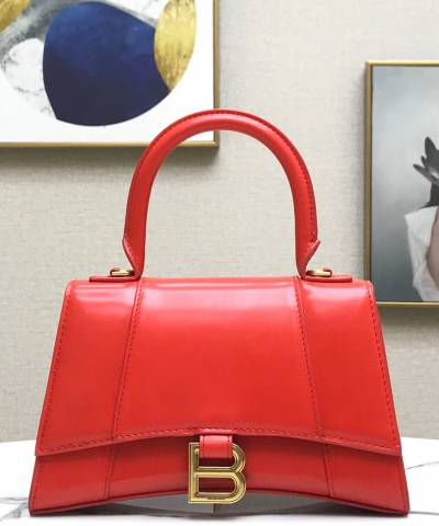 Сумка Balenciaga Hourglass Top Handle Bag Red