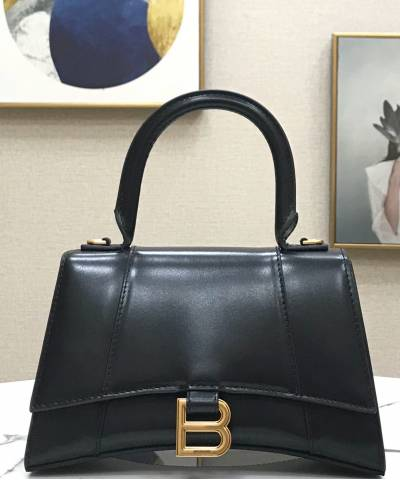 Сумка Balenciaga Hourglass Small Top Handle Bag Black