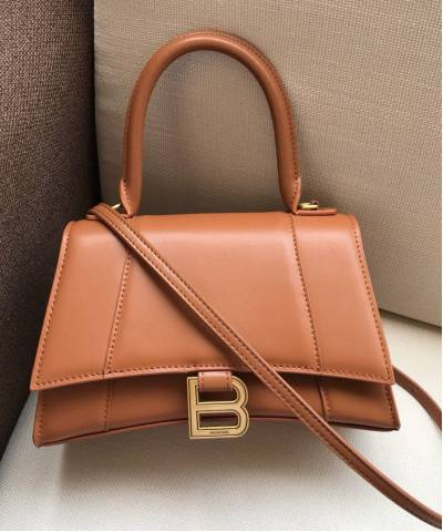Сумка Balenciaga Hourglass Small Top Handle Bag Brown