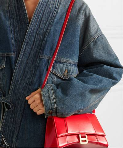 Сумка Balenciaga Hourglass Small Top Handle Bag Red