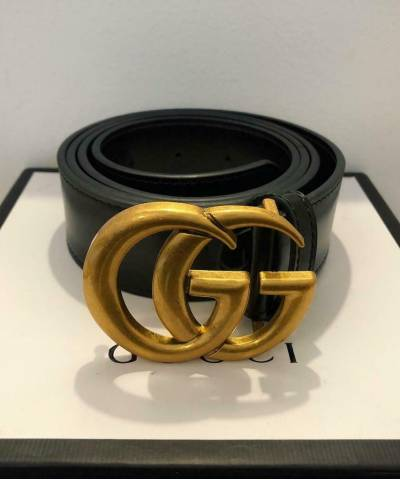Ремень Gucci Leather Belt With Double G Buckle