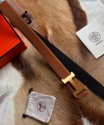 Ремень Hermes H Belt Buckle & Reversible Leather