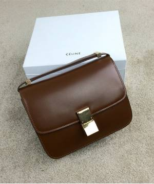 Сумка Celine Classic Box Shoulder Bag Brown