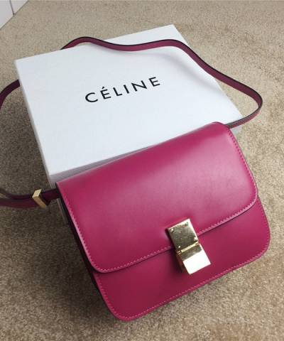 Сумка Celine Classic Box Shoulder Bag Fuchsia