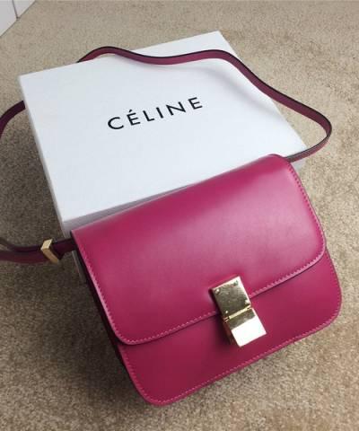 Сумка Celine Classic Box Shoulder Bag Fuchsia