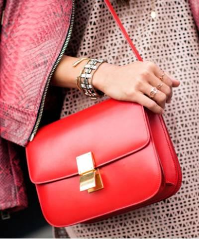 Сумка Celine Classic Box Shoulder Bag Red