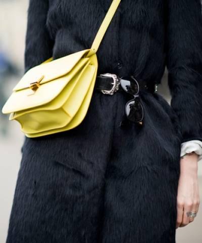 Сумка Celine Classic Box Shoulder Bag Yellow