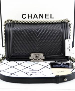 Сумка Шанель Le Boy Chevron Flap ... 849cdd970f8