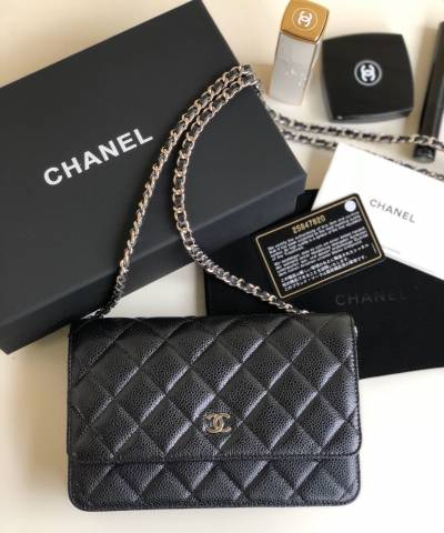 Сумка Ch*nel WOC Wallet On Chain Caviar Black