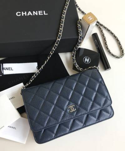 Сумка Ch*nel WOC Wallet On Chain Caviar Blue