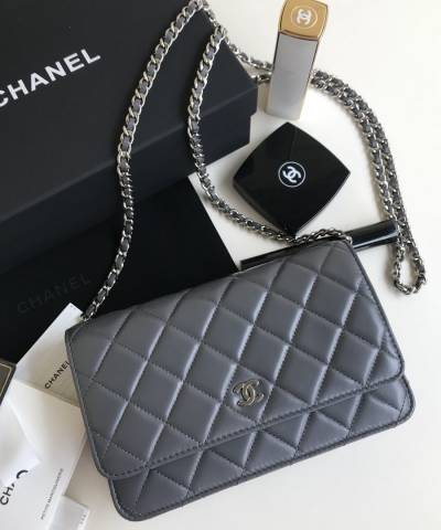 Сумка Ch*nel WOC Wallet On Chain Grey