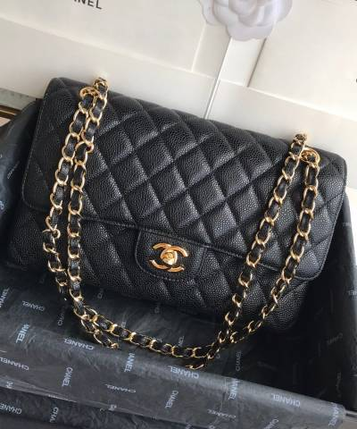 Сумка Classic Flap Bag Caviar Medium Black