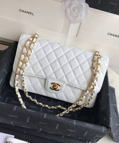 Сумка Classic Flap Bag Caviar Medium White