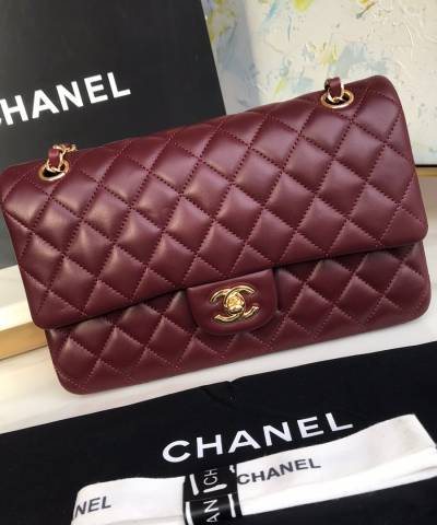 Сумка Medium Classic Double Flap Bordeaux