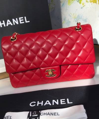 Сумка Medium Classic Double Flap Bag Red