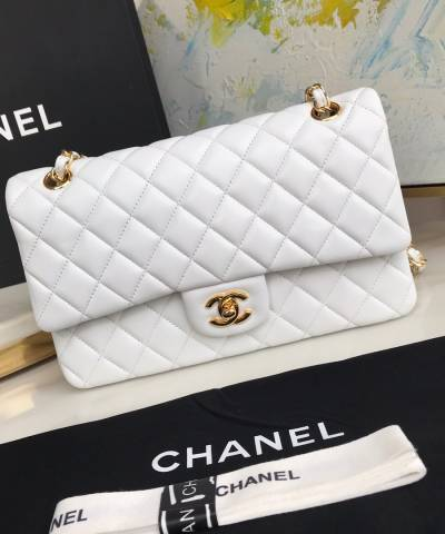 Сумка Medium Classic Double Flap Bag White