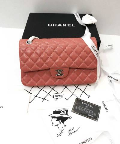 Сумка Medium Classic Double Flap Bag Coral