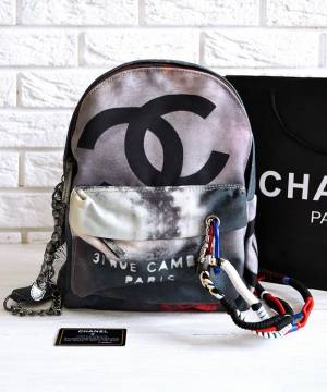 Рюкзак Шанель Graffiti Backpack Medium Grey