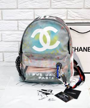 Рюкзак Шанель Graffiti Printed Canvas Backpack