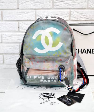 Рюкзак Сhan**l Graffiti Printed Canvas Backpack