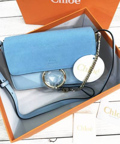 Сумка Chloe Faye Cross-Body Bag Blue