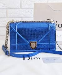 Сумка Dior Diorama Metallic Blue