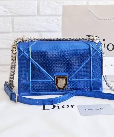 Сумка Dior Diorama Metallic Blue