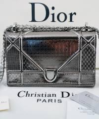 Сумка Dior Diorama Dark Silver