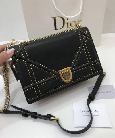 Сумка Dior Diorama Studded Black