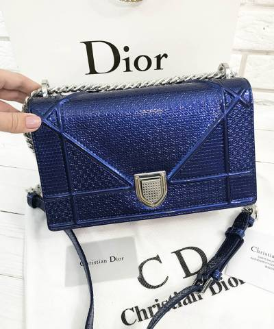 Сумка Dior Diorama Metallic Dark Blue