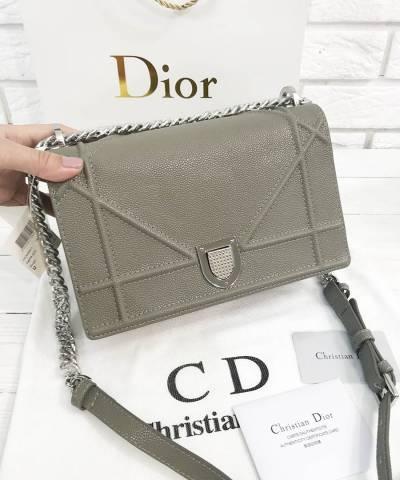 Сумка Dior Diorama Caviar Grey