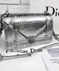 Сумка Dior Diorama Metallic Silver Medium