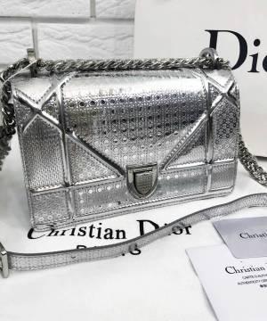 Сумка Dior Diorama Metallic Silver