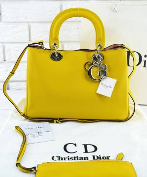 Сумка Dior Diorissimo Yellow Medium