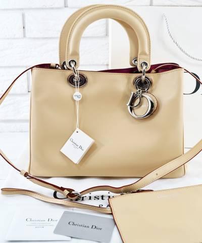 Сумка Dior Diorissimo Biege Medium