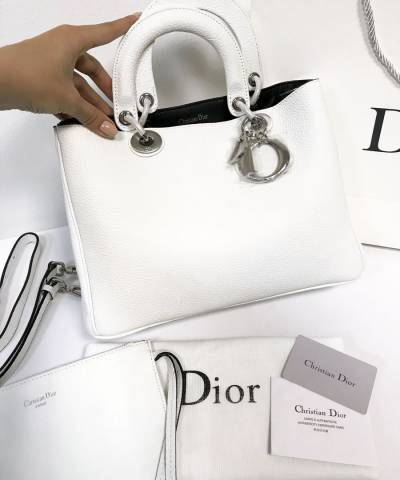 Сумка Dior Diorissimo White Medium