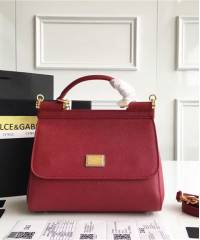 Сумка Dolce & Gabbana Sicily Dark Red