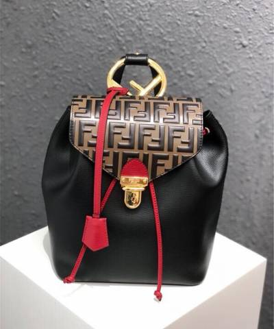 Рюкзак Fendi Embossed And Textured Leather Backpack