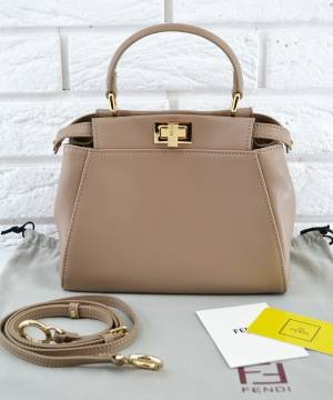Сумка Fendi Peekaboo Medium Satchel Dark Biege