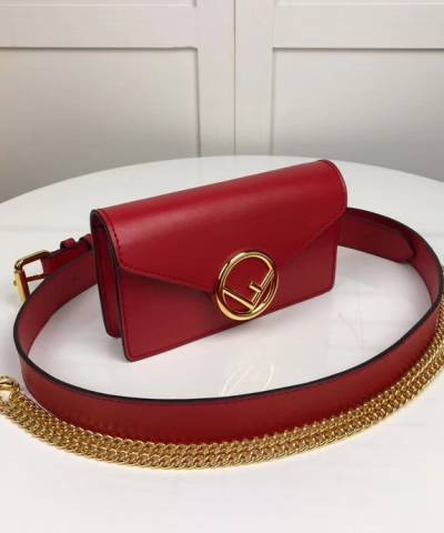 Сумка Fendi FF Logo Belt Bag Red
