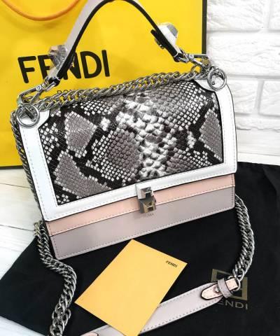 Сумка Fendi Kan I Python Bag