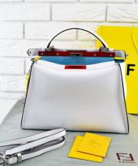 Сумка Fendi Peekaboo Large Satchel White