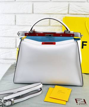 Сумка Fendi Peekaboo Large Satchel White ... e399ddb2436