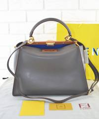 Сумка Fendi Peekaboo Large Satchel Grey