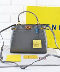 Сумка Fendi Peekaboo Medium Satchel Grey