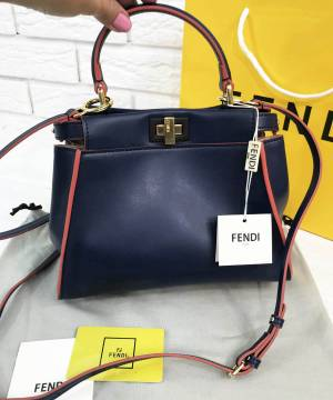 Сумка Fendi Peekaboo Medium Satchel Blue