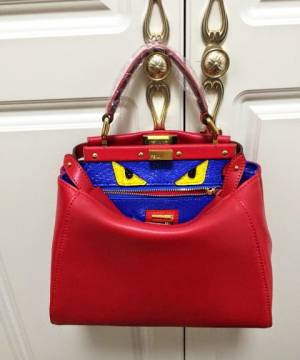Сумка Fendi Peekaboo Medium Red